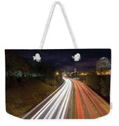 Interstate Freeway Through Portland Oregon Downtown Weekender Tote Bag