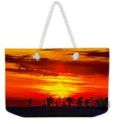 Interstate Sunset Weekender Tote Bag
