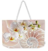 Intimate Fusion In Soft Pink Weekender Tote Bag
