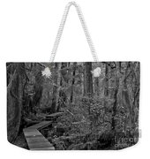 Into A Magical World Black And White Weekender Tote Bag