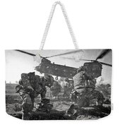 Into Battle - Charcoal Weekender Tote Bag