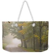 Down The Mountain, Into The Fog Weekender Tote Bag