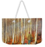 Into The Misty Autmun Woods Weekender Tote Bag