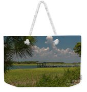 Intracoastal Water In Sullivan's Island South Carolina Weekender Tote Bag
