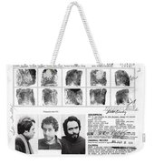 Investigator's Copy - Ted Bundy Wanted Document  1978 Weekender Tote Bag