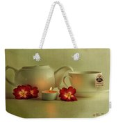 Invitation To Tea Weekender Tote Bag