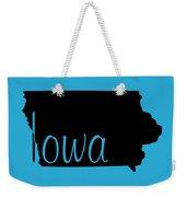 Iowa In Black Weekender Tote Bag