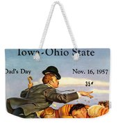 Iowa Vs Ohio State 1957 Program Weekender Tote Bag