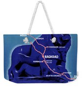 Iraq Vintage Travel Poster Restored Weekender Tote Bag