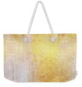 Iridescent Abstract Non Objective Golden Painting Weekender Tote Bag