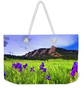 Iris And Flatirons Weekender Tote Bag
