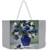 Iris And Mums Weekender Tote Bag