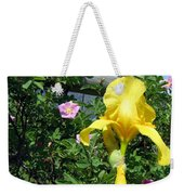 Iris And Wild Roses Weekender Tote Bag