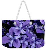 Iris At Night Weekender Tote Bag