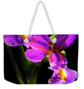 Iris Bloom Two Weekender Tote Bag
