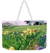 Iris Farm Weekender Tote Bag by Steve Karol