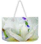 Iris Flower Art Print White Blue Purple Irises Baslee Troutman Weekender Tote Bag