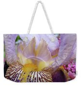 Iris Flower Art Purple Lavender Irises Giclee Prints Baslee Troutman  Weekender Tote Bag