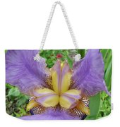 Iris Flower Lavender Purple Yellow Irises Garden 19 Art Prints Baslee Troutman Weekender Tote Bag