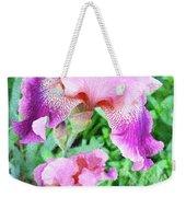 Iris Flower Photograph I Weekender Tote Bag