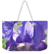 Iris Flower Purple Irises Floral Botanical Art Prints Macro Close Up Weekender Tote Bag