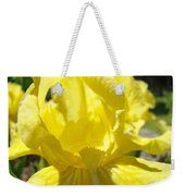 Iris Flower Yellow Macro Close Up Irises 30 Sunlit Iris Art Print Baslee Troutman Weekender Tote Bag