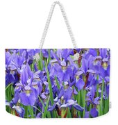 Iris Flowers Artwork Purple Irises 9 Botanical Garden Floral Art Baslee Troutman Weekender Tote Bag