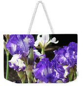 Iris Flowers Floral Art Prints Purple Irises Baslee Troutman Weekender Tote Bag