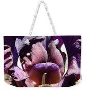 Iris Flowers Purple Irises Artwork Prints Framed Canvas Cards Nature Gardens Weekender Tote Bag
