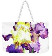 Iris Flowers Watercolor  Weekender Tote Bag