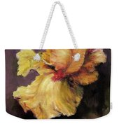 Iris Gold Weekender Tote Bag