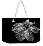 Iris In Black And White Weekender Tote Bag