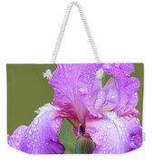 Iris In Summer Rain  Weekender Tote Bag