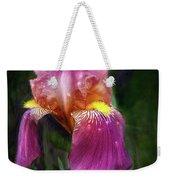Iris In The Pink Weekender Tote Bag