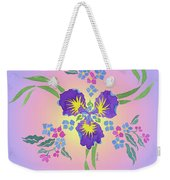 Iris Pinwheel Weekender Tote Bag