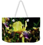 Iris Purple And Yellow Weekender Tote Bag