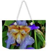 Iris Rain Blue Weekender Tote Bag