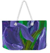 Iris Up Close And Personal Weekender Tote Bag