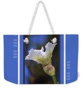 Iris White With Design Weekender Tote Bag