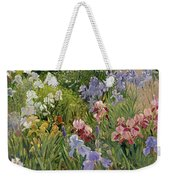 Irises At Bedfield Weekender Tote Bag