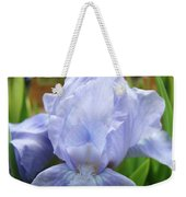 Irises Blue Iris Flower Light Blue Art Flower Soft Baby Blue Baslee Troutman Weekender Tote Bag