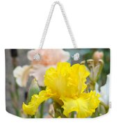 Irises Botanical Garden Yellow Iris Flowers Giclee Art Prints Baslee Troutman Weekender Tote Bag