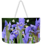 Irises Flowers Art Prints Blue Purple Iris Floral Baslee Troutman Weekender Tote Bag
