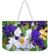 Irises Flowers Garden Botanical Art Prints Baslee Troutman Weekender Tote Bag