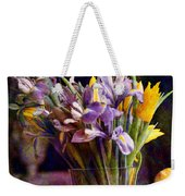 Irises In A Glass Weekender Tote Bag