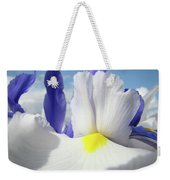 Irises White Iris Flowers 15 Purple Irises Art Prints Floral Artwork Weekender Tote Bag
