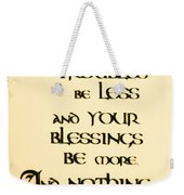 Irish Blessing Weekender Tote Bag by Bill Cannon
