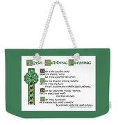 Irish Celtic Wedding Blessing Weekender Tote Bag
