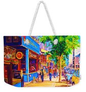 Irish Pub On Crescent Street Weekender Tote Bag