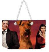 Irish Terrier Art Canvas Print - Gone To The Wind Movie Poster Weekender Tote Bag